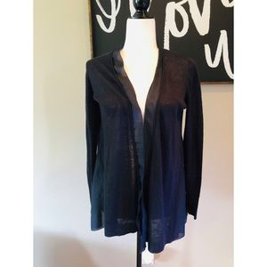 Eileen Fisher black silk cardigan